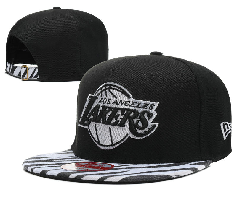 Los Angeles Lakers Black Snapback Hat DF